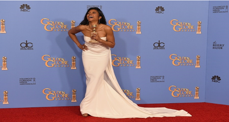 "Actress-TARAJI P. HENSON wins Golden Globe Award 2016 Best Performance by an Actress-TV Drama ""EMPIRE"" as Cookie"